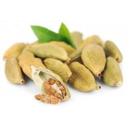 Especias de cardamomo verde - frutas enteras