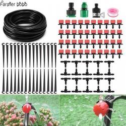 Sistema de riego por goteo, riego automático con goteros ajustables 19.5 - 14